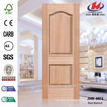 JHK-M01 4.2MM Novo Design Usado Em Apartamento Jugulars Vermelho HDF Moldado Porta Pele