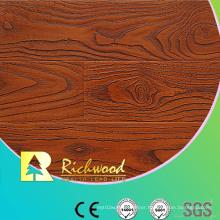 Commercial 8.3mm Embossed Walnut U-Grooved Waterproof Laminated Floor