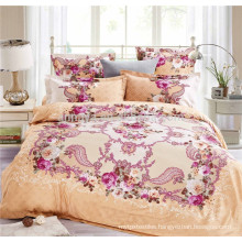 Latest Bed Sheet Designs and Beautiful Bridal Bed Sheet Set China Manufacturer