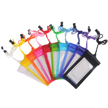 Moda promocional colorido claro pvc impermeável telefone sacos (yky7282)