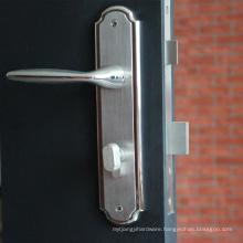 High quality casting handle plate door lock in complete set