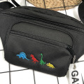 Solid Color Cartoon Embroidery Bags Handsome Pockets