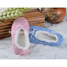 Тихий домашний тапочки лямки дешевый тапочки балерина стилей женщин крытый обувь