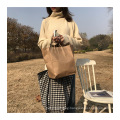 Promotional Ins Fashion Low MOQ Lady Woolen Latest Tote Bags Shoulder Bag for Girls