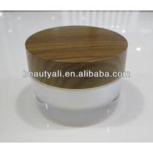 2g 5g 10g 15g 30g 50g 100g Double Wall Acrylic Wooden Jar