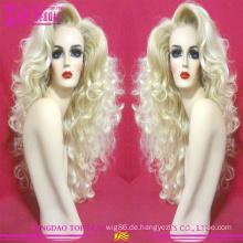 100 % unverarbeitete brasilianisches Haar #60 Farbe Perücke Großhandel blondes Echthaar volle Spitze Perücke neue Trend blonde Perücke für weiße Frauen