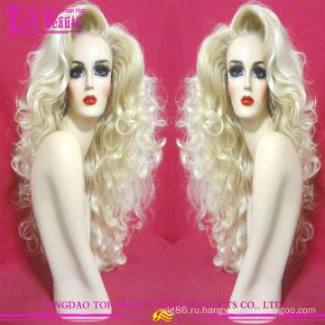 100% необработанных бразильский волос #60 цвет Оптовая блондинка человека полное кружево парик новые тенденции блондинка парик волос для белых женщин
