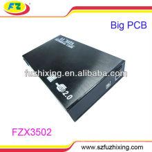 3.5 '' USB2.0 SATA Maletín de aluminio caja del carrito de disco duro