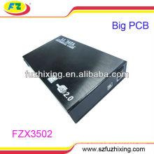 3.5'' USB2.0 SATA Aluminum briefcase hard drive caddy case