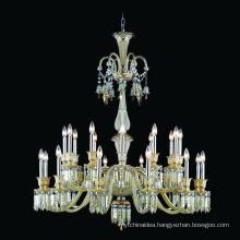 Baccarat style sliver K9 crystal chandelier banquet hall lighting lamps candle light chandelier