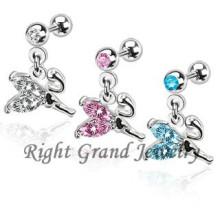 316L Stainless Crystal Anime Body Jewelry Helix Piercing Jewelry