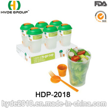Promotional Plastic Salad Shaker Cup with Fork (HDP-2018)