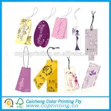 Étiquette faite sur commande de vêtements de papier d'art de conception d'étiquette imprimée tag