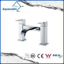 Deck-Mount Chromed Two Holes Dual Handle Bathtub Faucet (AF6033-2)