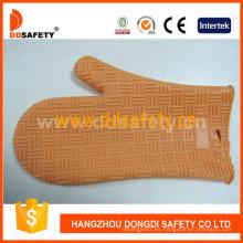Resistente al calor Glvoe Orange Silicone Oven Glove Dsr322