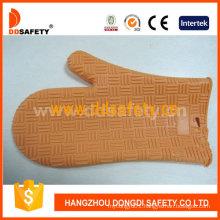 Heat Resistant Glvoe Orange Silicone Oven Glove Dsr322