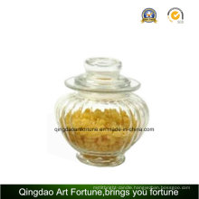 Glass Candle Jar with Clear Lid for Storage