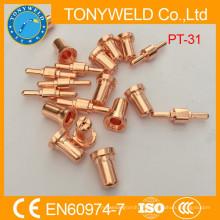 PT31 Piezas de repuesto de corte de plasma boquilla y electrodo