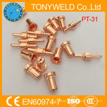 PT31 Plasma cutting spare parts nozzle and electrode