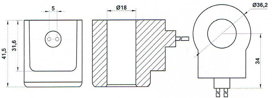 Dimension of BB18041503 Solenoid Coil: