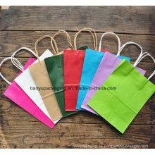 Bolsas de papel Kraft coloridas con papel biodegradable e impresas