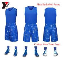 Chemise faite sur commande de sport d'homme d'usage de basket-ball d'impression de Jersey de basket-ball 100% polyester