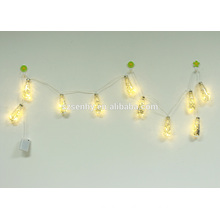 2017 ultra thin silver wire led string light in brown wire