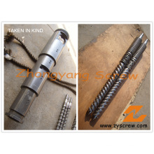 Parafuso duplo cônico bimetálico e cilindro para perfil de PVC