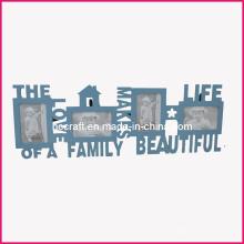 Palabra marco de madera de la foto para Home Deco