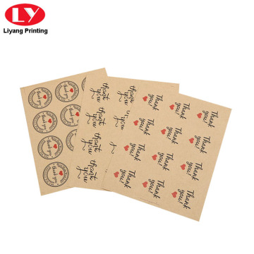 Logo Khas Bercetak Kraft Paper Brown Sticker