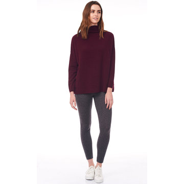 Rymlig Turtle Neck Dropad Sleeve Sweater