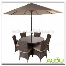 Juego de jardín de verano Audu, Jardín de verano Juego de jardín con cubierta de paraguas