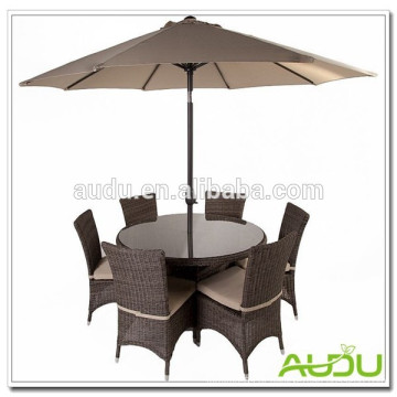 Conjunto de jardim de verão Audu, conjunto de jardim do parque de verão com capa de guarda-chuva