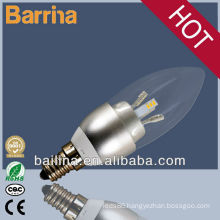 2013 HOT SALE e14,e27 led candle bulb 3w,4w,5w