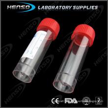 Recipiente de urina esterilizado 30 ml com tampa de rosca etiquetada