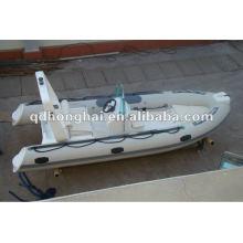 Barco inflável de fibra de vidro rígida de CE RIB480