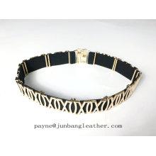 Decorated Elastic Belt Metal Twine Women Belt