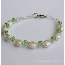 Cheap Natural Freshwater Cultured Pearl Bracelet for Christmas Promotion Gift