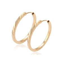 29361-Xuping Hot Sale Fashion 18K Gold Plated Hoop Earring For Women