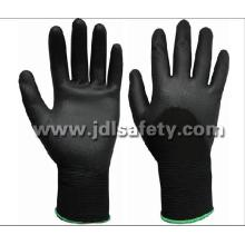 Nylon Work Glove with Knuckle Dipped PU (PN8010)