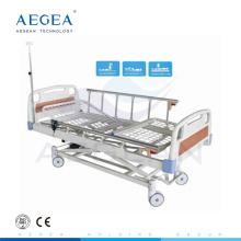AG-BM106 Ruedas de bloqueo controladas por el centro muebles para el hospital tres suministros médicos de cama para el cuidado del hogar