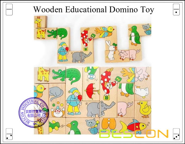 Wooden Educational Domino Toy