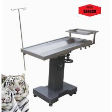 Examinar la mesa de operaciones quirúrgicas de uso Animal