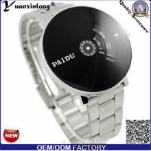 Yxl-373 Новый Дизайн Из Нержавеющей Стали Часы Черный Циферблат Япония Движение Спорт Цифровой Хронограф Мужские Часы