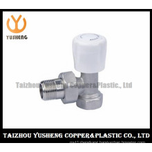 Nickel Plated Elbow Male Brass Radiator Valve with Plastic Handle (YS5004)