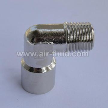 Cixi Air-Fluid Equal Elbow Metric/BSPT Male x Metric/BSPP Female Thread Brass Fittings