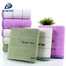 100% cotton plain dyed jacquard and yarn dyed satin face towel