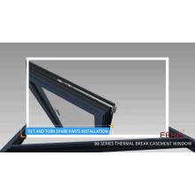 New design aluminum glass window aluminium awning window