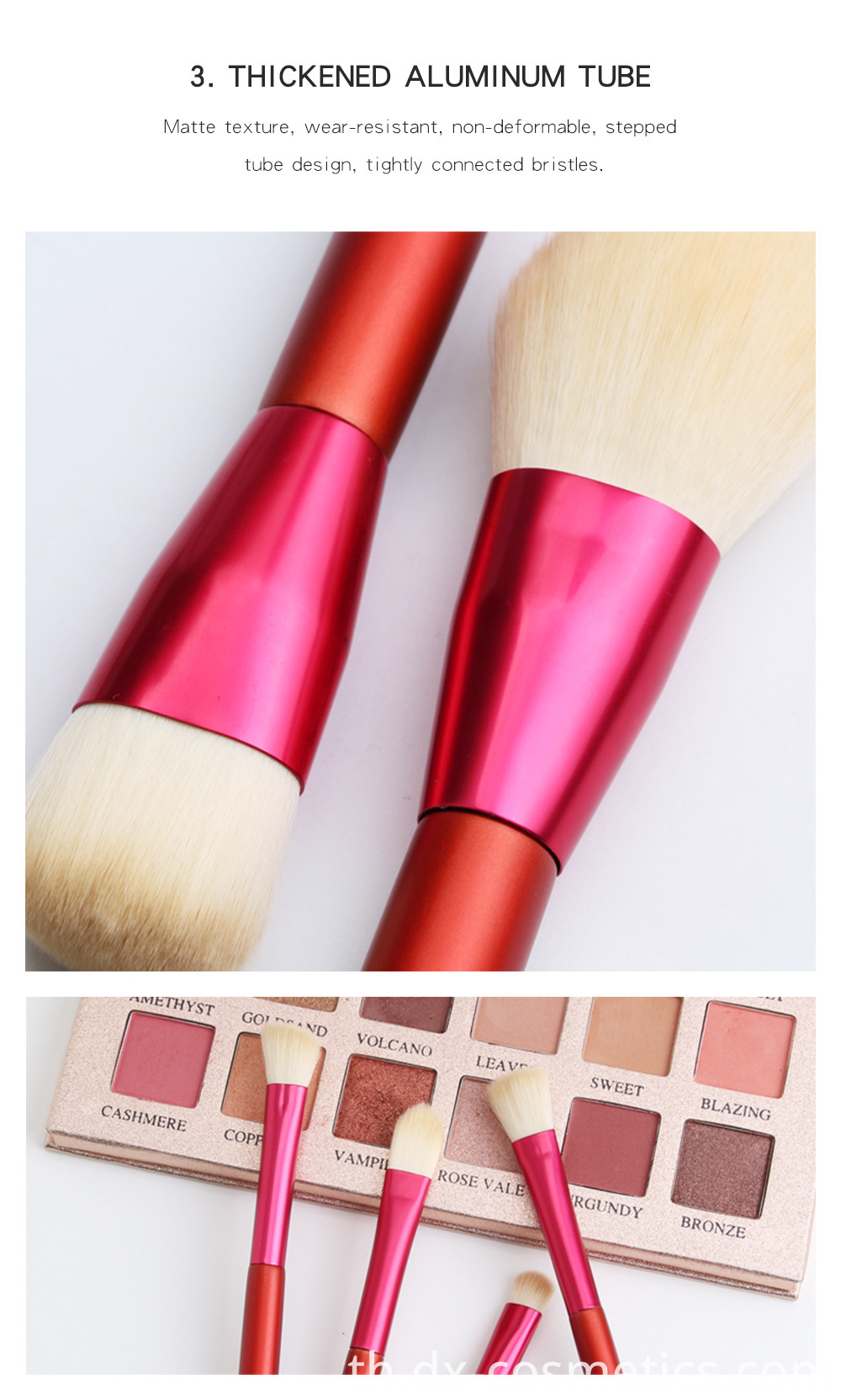 12 PCS Red Handle Makeup Brushes Set 6