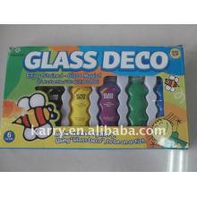 22ml Glas Deko Farbe Set, pass en71-3 astmd4236